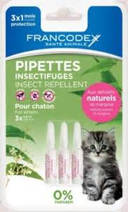 Pipettes insectifuges chaton